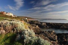 Ακτή του βόρειου Devon Woolacombe Στοκ Εικόνες