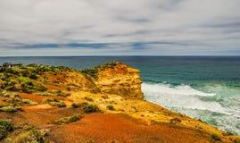 Ακτή του Ειρηνικού Ωκεανού μεγάλος ωκεάνιος δρόμο&sigm απόστολοι δώδεκα Στοκ φωτογραφία με δικαίωμα ελεύθερης χρήσης
