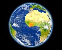 Ακτή του Ελεφαντοστού στο κόκκινο από το διάστημα Στοκ Εικόνα