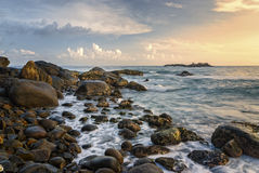 Ακτή του Ινδικού Ωκεανού - της Σρι Λάνκα Στοκ Εικόνες