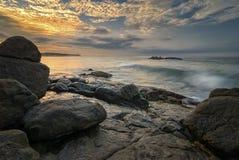 Ακτή του Ινδικού Ωκεανού - της Σρι Λάνκα Στοκ φωτογραφίες με δικαίωμα ελεύθερης χρήσης
