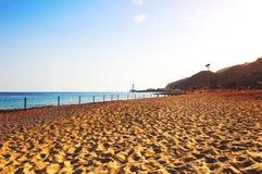 Ακτή του Κόλπου Ερυθρών Θαλασσών Eilat στο Ισραήλ Στοκ Φωτογραφία