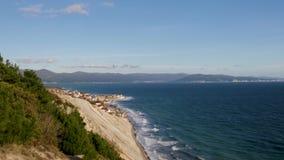 Ακτή του κόλπου στο Νοβορωσίσκ, η Μαύρη Θάλασσα απόθεμα βίντεο