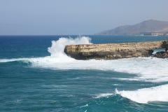 Ακτή του Λα που καθαρίζεται Στοκ Εικόνες