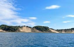 Ακτή του Μίτσιγκαν λιμνών Στοκ φωτογραφία με δικαίωμα ελεύθερης χρήσης