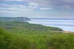 ακτή του Μίτσιγκαν λιμνών στοκ φωτογραφία