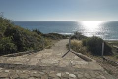 Ακτή του νησιού της Κύπρου Στοκ Εικόνες