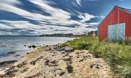 Ακτή του νορβηγικού νησιού στοκ φωτογραφίες με δικαίωμα ελεύθερης χρήσης