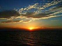 Ακτή του Ομάν ηλιοβασιλέματος Στοκ Φωτογραφία