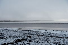 Ακτή το χειμώνα Στοκ Εικόνα