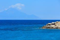 Ακτή Χαλκιδική, Ελλάδα Αιγαίων πελαγών Στοκ εικόνες με δικαίωμα ελεύθερης χρήσης