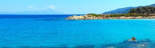 Ακτή Χαλκιδική, Ελλάδα Αιγαίων πελαγών Στοκ φωτογραφία με δικαίωμα ελεύθερης χρήσης