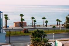 Ακτή Antalya στην Τουρκία, Konyaalti Στοκ εικόνα με δικαίωμα ελεύθερης χρήσης