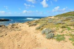 Ακτή Argentiera Στοκ Εικόνες