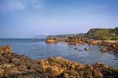 Ακτή Ballycastle, κοβάλτιο Antrim, Βόρεια Ιρλανδία Στοκ Φωτογραφία