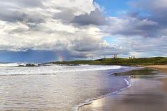 Ακτή Dunstanburgh Στοκ φωτογραφία με δικαίωμα ελεύθερης χρήσης