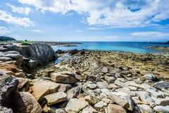 Ακτή Ile Grande στη Βρετάνη, Pleumeur Bodou, d'Armor CÃ'tes, Γαλλία Στοκ φωτογραφία με δικαίωμα ελεύθερης χρήσης