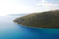 Ακτή Istrian κοντά σε Plomin Στοκ Εικόνες