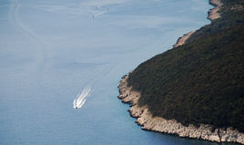 Ακτή Istrian κοντά σε Plomin Στοκ Εικόνα