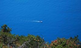 Ακτή Istrian κοντά σε Plomin Στοκ Φωτογραφία