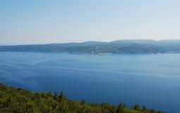 Ακτή Istrian κοντά σε Plomin Στοκ Φωτογραφίες