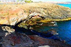 Ακτή Lanzarote Στοκ Εικόνα