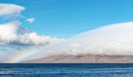 Ακτή Maui Χαβάη Kihei με το ουράνιο τόξο και τα σύννεφα Στοκ φωτογραφίες με δικαίωμα ελεύθερης χρήσης