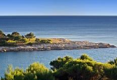 ακτή mediteranean Στοκ Εικόνες
