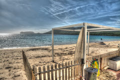 Ακτή Mugoni μια νεφελώδη ημέρα Στοκ Φωτογραφίες