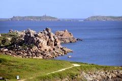 Ακτή Ploumanach στη Γαλλία Στοκ φωτογραφία με δικαίωμα ελεύθερης χρήσης
