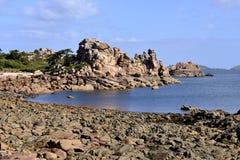 Ακτή Ploumanach στη Γαλλία Στοκ εικόνες με δικαίωμα ελεύθερης χρήσης