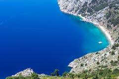 Ακτή Riviera Makarska (Κροατία) Στοκ φωτογραφία με δικαίωμα ελεύθερης χρήσης
