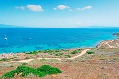 Ακτή Tharros Στοκ Εικόνες