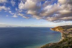 Ακτή Thyrrenian, Σικελία Στοκ φωτογραφία με δικαίωμα ελεύθερης χρήσης