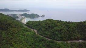Ακτή Yilan στην Ταϊβάν Έκταση Mountan της βορειοανατολικής ακροθαλασσιάς κοντά στην πόλη της Ταϊπέι ( απόθεμα βίντεο