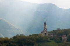 Ακτίνα εκκλησιών του Annecy του φωτός Στοκ Φωτογραφίες