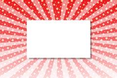 Ακτίνα και σημεία ήλιων κόκκινου φωτός με το πλαίσιο κειμένων ελεύθερη απεικόνιση δικαιώματος