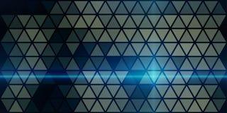 Ακτίνα λέιζερ ένα σκοτεινό υπόβαθρο κατασκευασμένο από τα τρίγωνα ελεύθερη απεικόνιση δικαιώματος