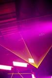 ακτίνες ακτίνας λέιζερ κίτρινες Στοκ Φωτογραφίες