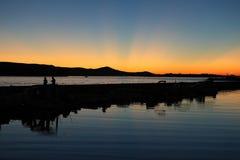 Ακτίνες ηλιοβασιλέματος επάνω από τη θάλασσα Στοκ φωτογραφίες με δικαίωμα ελεύθερης χρήσης