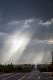 Ακτίνες Θεών πέρα από το Tucson Στοκ φωτογραφία με δικαίωμα ελεύθερης χρήσης