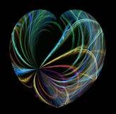 ακτίνες καρδιών χρώματος Στοκ φωτογραφίες με δικαίωμα ελεύθερης χρήσης