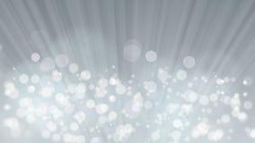 Ακτίνες του φωτός με το κομψό γκρίζο υπόβαθρο Bokeh απόθεμα βίντεο