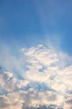 Ακτίνες του φωτός που λάμπουν επάνω Στοκ Εικόνα