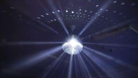 Ακτίνες φω'των σφαιρών Disco απόθεμα βίντεο