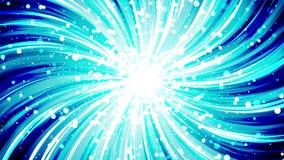 Ακτίνες Starburst στο διάστημα Ζωτικότητα βρόχων ακτίνων κινούμενων σχεδίων Μελλοντική ανασκόπηση έννοιας τεχνολογίας Αστέρι έκρη διανυσματική απεικόνιση