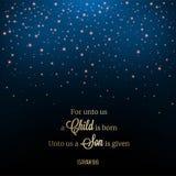 Ακτινοβολήστε σκηνή νύχτας πτώσης αστεριών ή χιονιού, θέμα Χριστουγέννων για τη χρήση α απεικόνιση αποθεμάτων