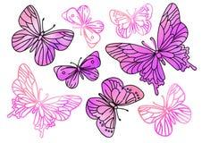 Ακτινοβολήστε συνδετήρων τεχνών ΡΟΔΙΝΟ ΠΕΤΑΛΟΥΔΩΝ χρώματος διανυσματικό σχέδιο καθορισμένο Scrapbooking χρωμάτων εικόνων απεικόνι διανυσματική απεικόνιση