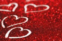 Ακτινοβολήστε υπόβαθρο με τις καρδιές Στοκ Εικόνα