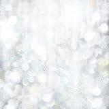 Ακτινοβολώντας ασημένια ανασκόπηση Χριστουγέννων διανυσματική απεικόνιση